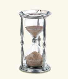 Ancient Coin Hourglass
