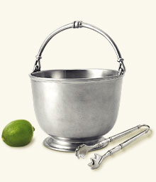 Bar Ice Bucket With Tongs Set