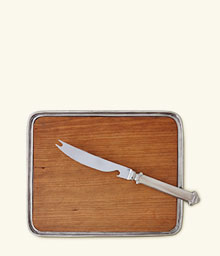 Bar Tray w/Bar Knife Set