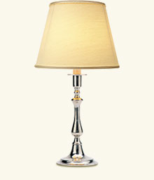 Toscana Table Lamp with Raw Silk Shade