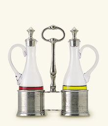 Oil & Vinegar Set with Pewter Tops