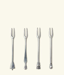 Assorted Olive Cocktail Forks, set of 4
