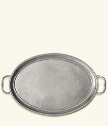 Oval Tray with Handles, Medium