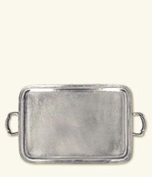 Lago Rectangle Tray with Handles, Large