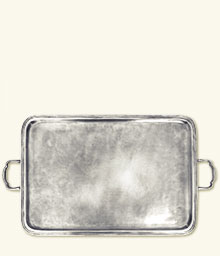 Lago Rectangle Tray with Handles, X-Large