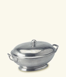 Footed Oval Tureen with Handles