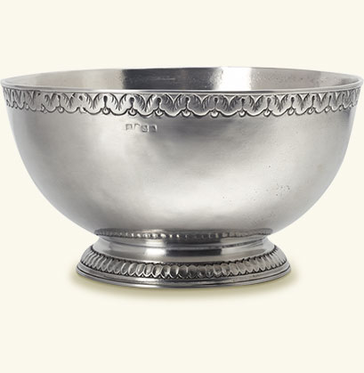 Engraved Rim Deep Footed Bowl