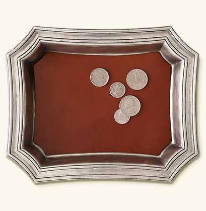 Pocket Change Tray with Leather Insert