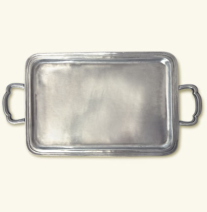 Lago Rectangle Tray with Handles, Medium