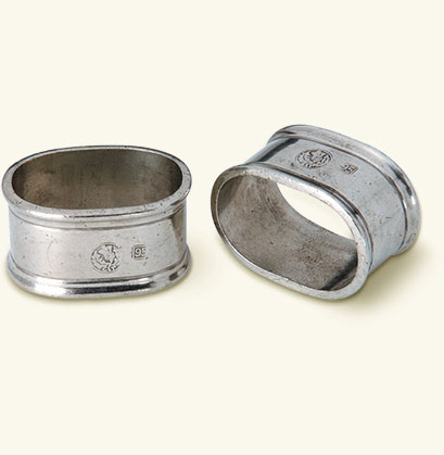 Oval Napkin Ring, Pair
