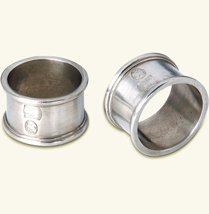 Round Napkin Ring, Pair