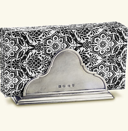 Napkin Holder with Dinner Napkin