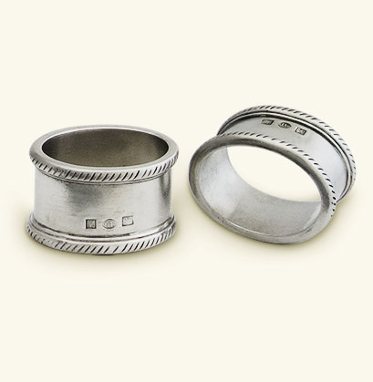 Luisa Oval Napkin Ring, Pair