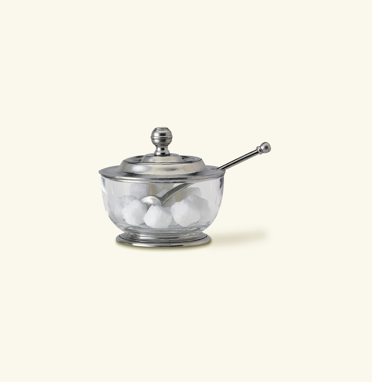 match pewter sugar bowl with spoon - sugar bowl with spoon zoom